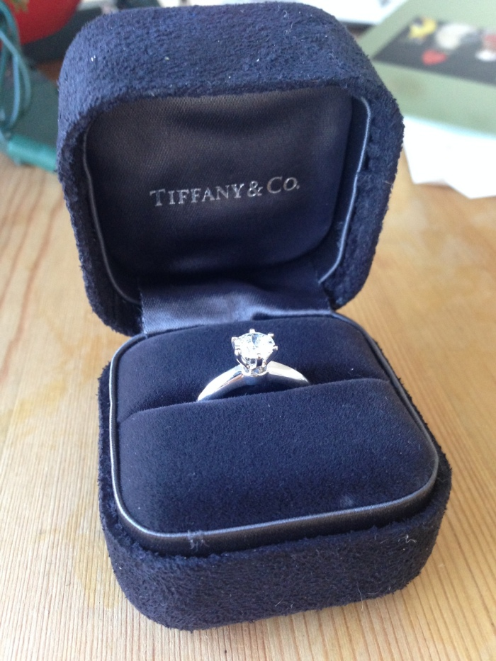 The Tiffany Classic Setting. She loved it.